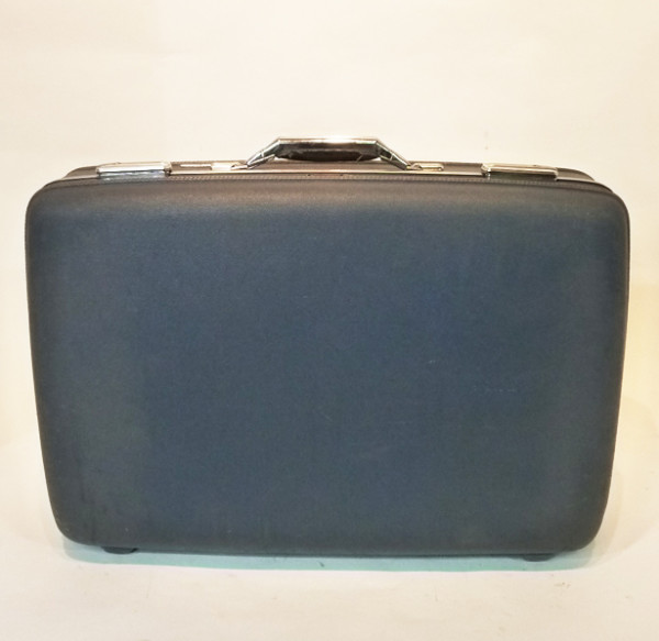4: Dark Blue Hard Shell Retro Suitcase