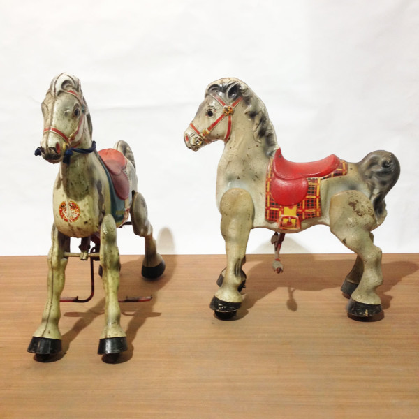 2: Mechanical toy horses