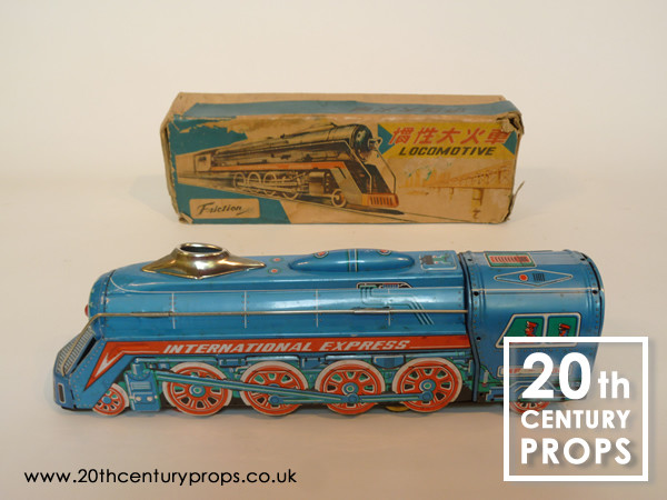 1: Vintage toy tin train - Japanese