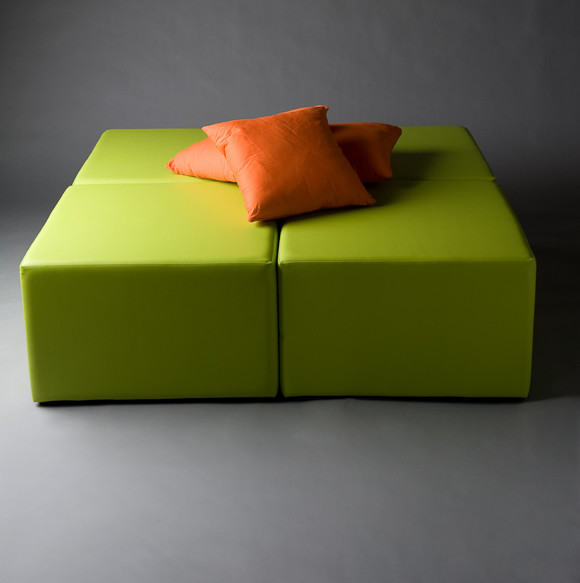 2: Green Squared Daybed
