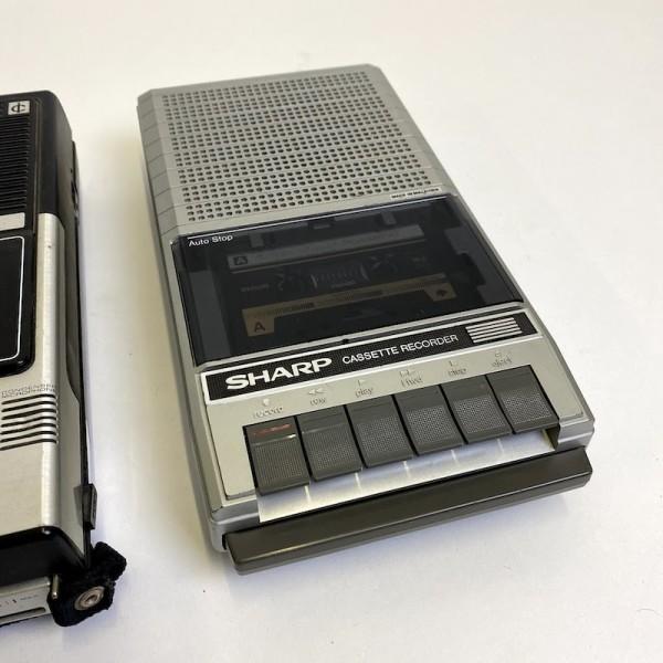 1: Sharp cassette recorder - non working