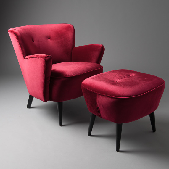 4: Cocktail armchair - Red