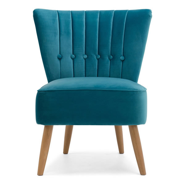 1: Velvet Cocktail Chair - Teal
