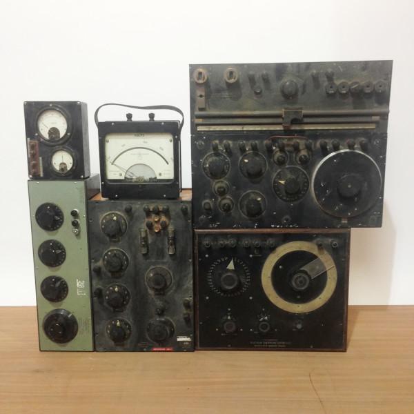 2: Vintage electrical control panels & gauges