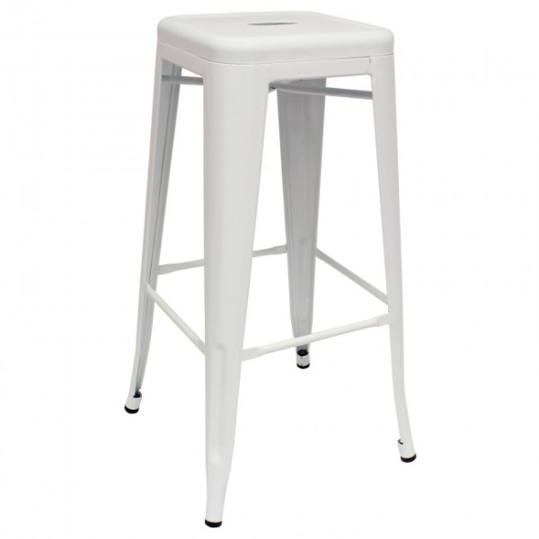 3: White Tall Tolix Stool