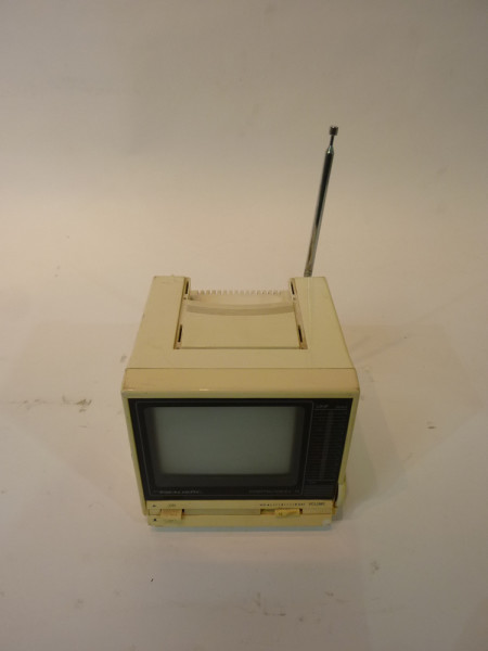 1: White Portable Mini 1980's TV