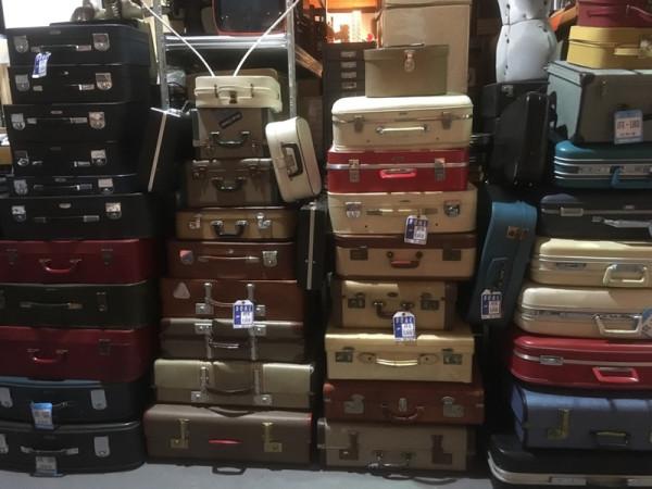 2: Stacks of Vintage Luggage