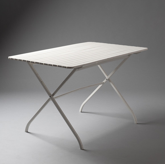 2: White Outdoor Fold Up Table