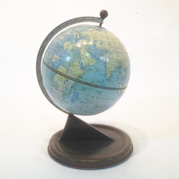 1: Vintage tin globe