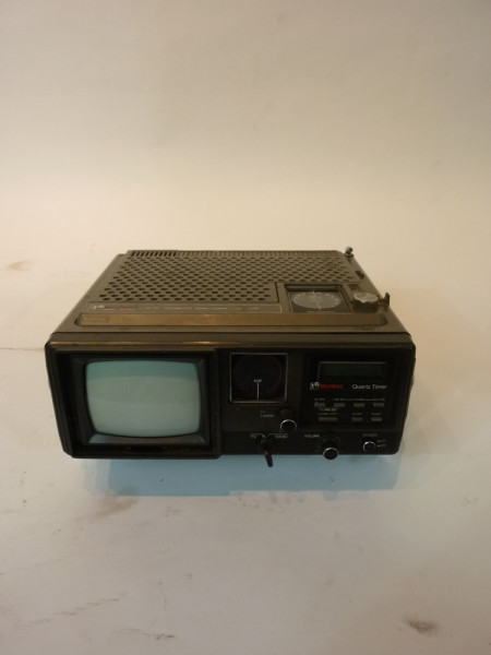 2: Black Mini Mini Portable 1980's TV