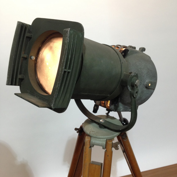 3: Vintage Industrial Spotlight with Long Lenses