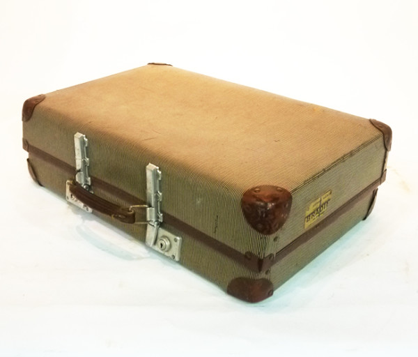 2: Beige Hard Shell Suitcase