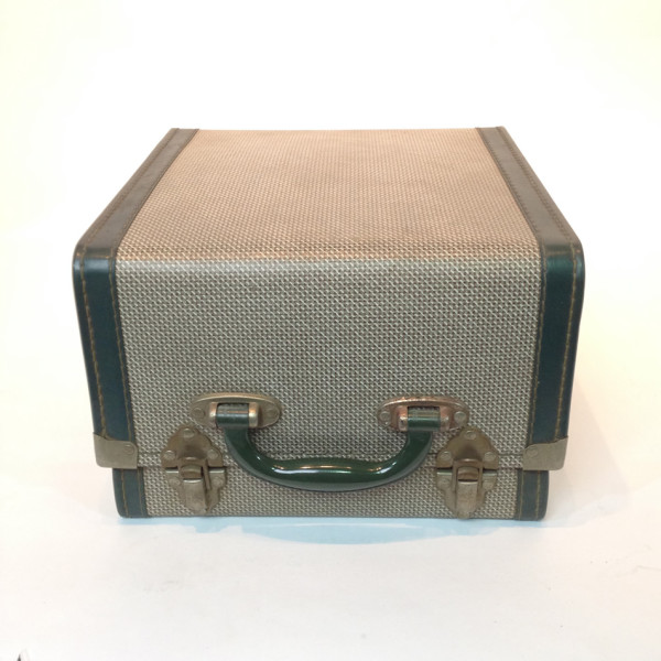 5: Small Patterned With Green Trim Travel Case