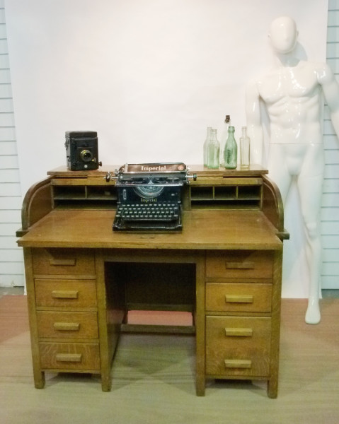 2: Oak roll top desk
