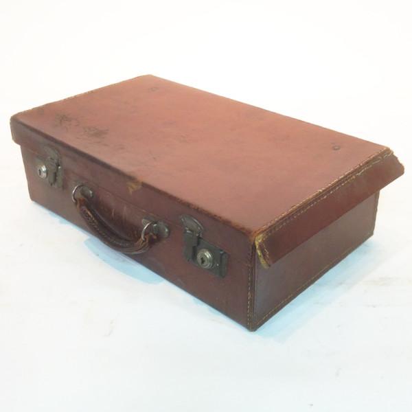 3: Dark Brown Leather Suitcase 2