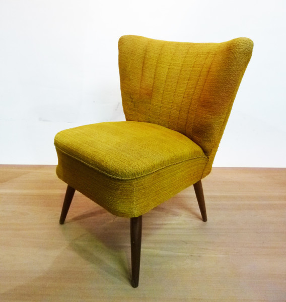 4: 1950's Mid-Century Cocktail Lounge Chair