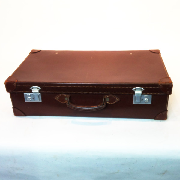 1: Brown Leather Suitcase 4
