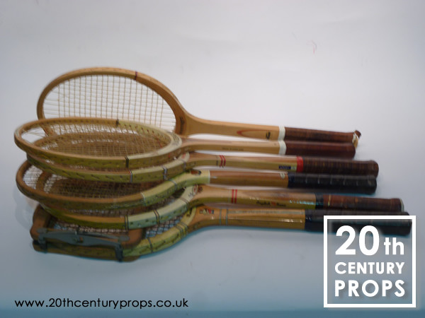 2: Vintage tennis rackets