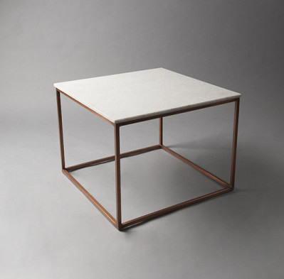 2: White Marble Top Table