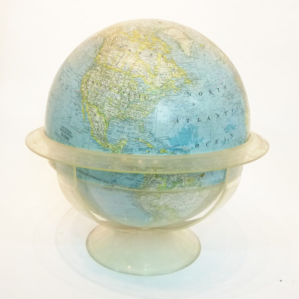 1: Large National Geographic vintage globe