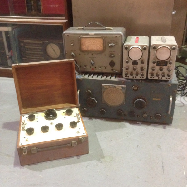 1: Vintage electrical control panels