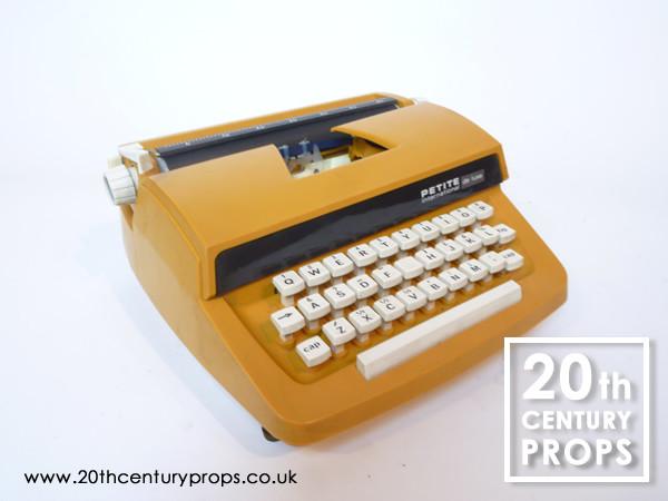 2: Retro orange typewriter and carry case