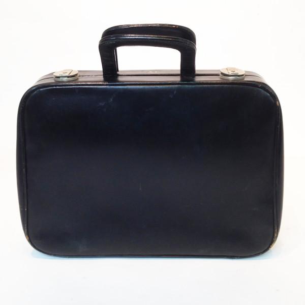 3: Thin Black Soft Leather Suitcase