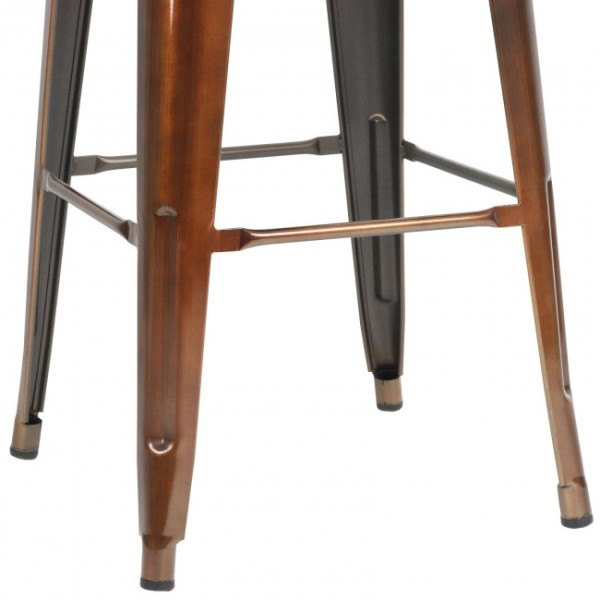 3: Copper Tall Tolix Stool