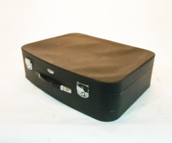 5: Black Soft Leather Suitcase