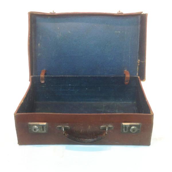 2: Dark Brown Leather Suitcase 2