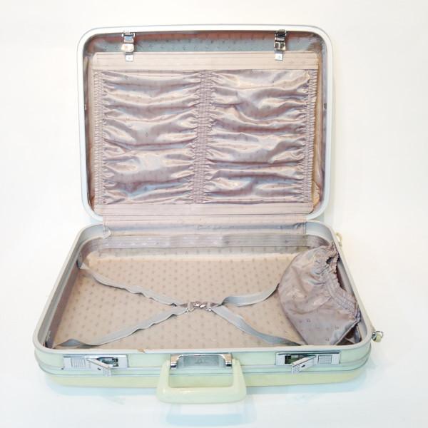 5: White Hard Shell Suitcase