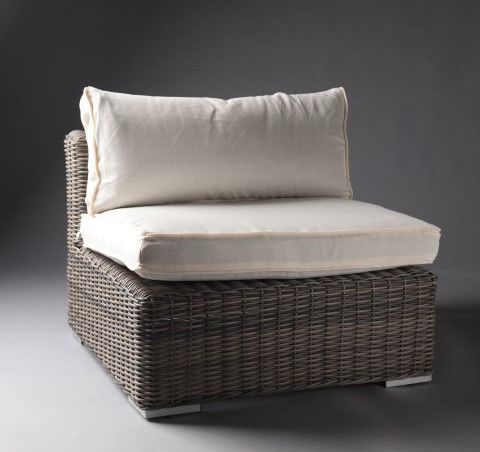 3: White Outdoor Rattan Chair