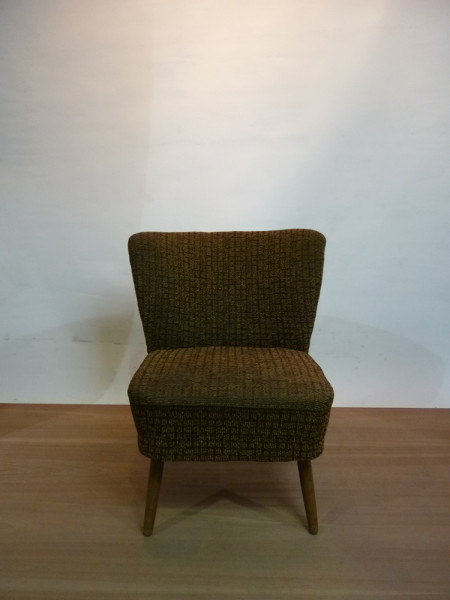 1: 1950's Mid-Century Cocktail Lounge Chair