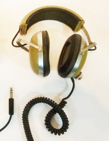 1: Green Retro Headphones