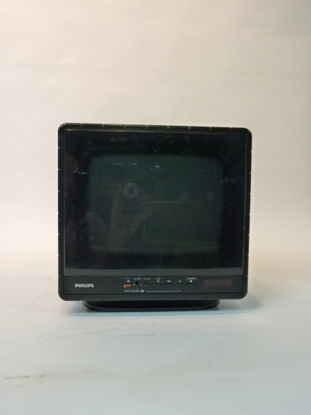 3: Black Mini Portable 1980's TV, Radio and Cassette Player