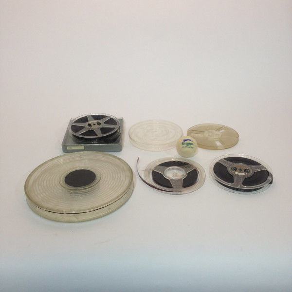 Small Plastic 16mm and 8mm Film Reels | LONDON PROP HIRE