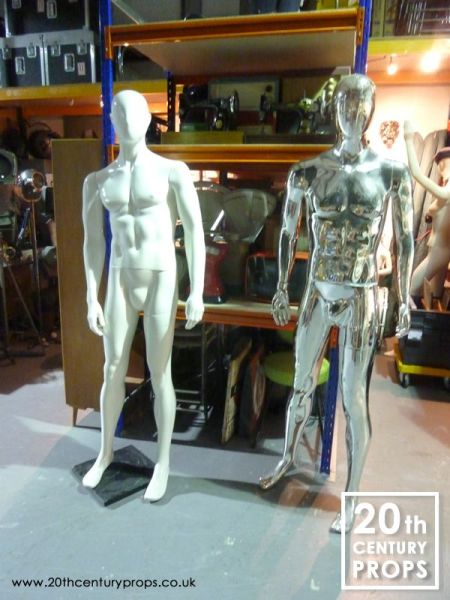 2: Free standing male mannequins