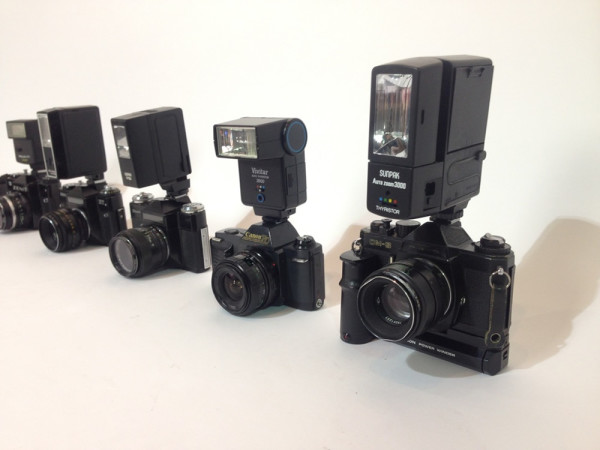 2: Paparazzi cameras with working flash units