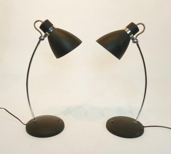 3: Black Posable Desk Lamp