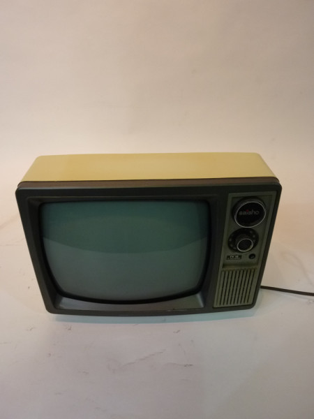 1: White Portable 1970's TV