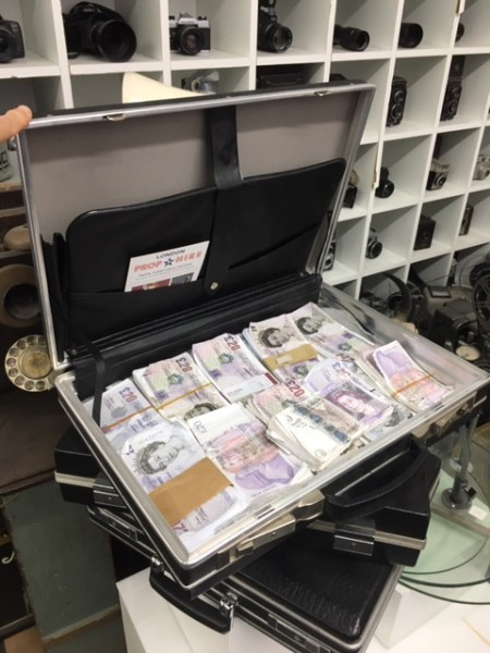2: Fake money in briefcase - Pounds Sterling