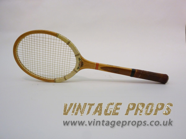 1: Vintage wooden tennis racket