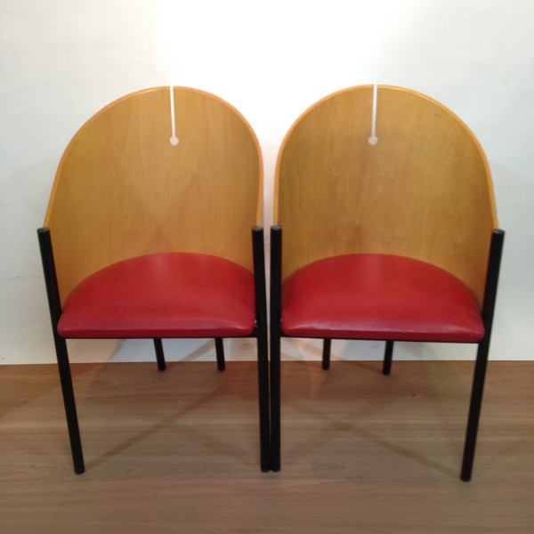 3: Curved Back Italian Style Lounge Chair