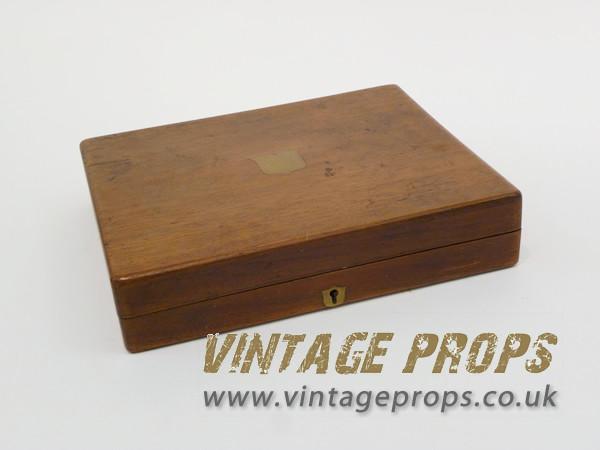 1: Wooden cigar box