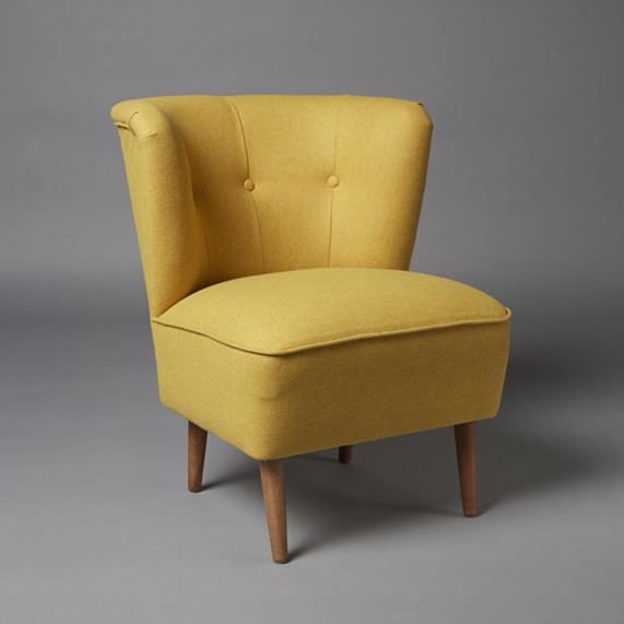 2: Cocktail armchair - Mustard