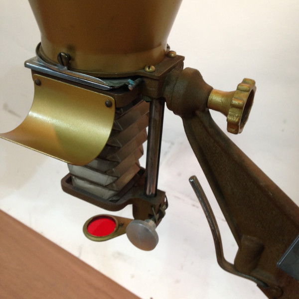 1: Brass Coloured Overhead Photographic Slide Projector/Enlarger