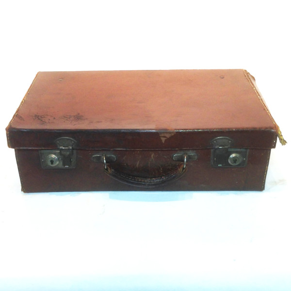 1: Dark Brown Leather Suitcase 2