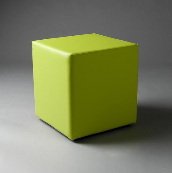 2: Small Green Square Pouf