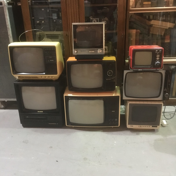 3: Stack of vintage TV's