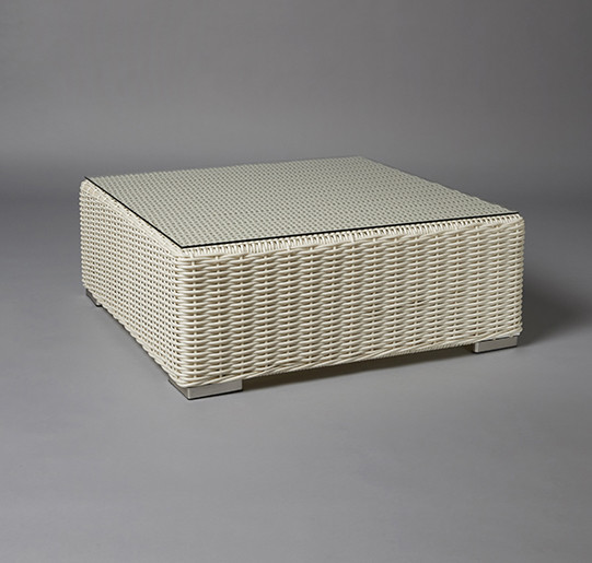 2: White Base Rattan Table